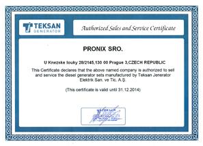 TEKSAN Certificate