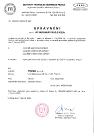 TECHNICKÁ INSPEKCE ČESKÉ REPUBLIKY Certificate