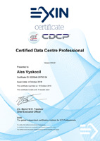 CERTIFIED DATA CENTRE PROFESSIONAL Certificate